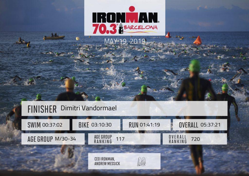 Ironman Finisher Certificate